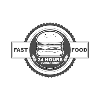 バーガーショップのロゴ