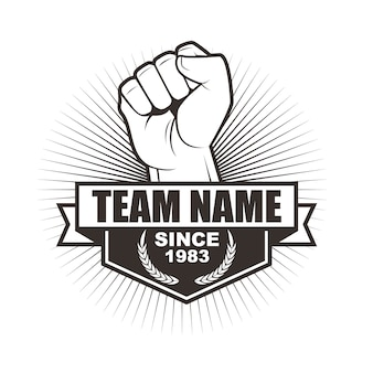 チームやクラブのためのベクトルのロゴのテンプレートデザイン