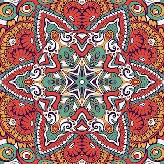 ボヘミアンスタイルのシームレスなパターンタイル。