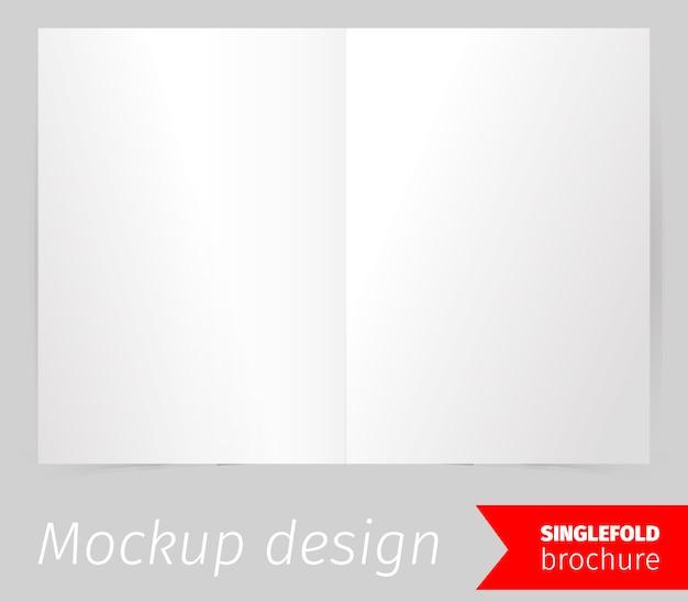 一つ折りパンフレットモックアップデザイン
