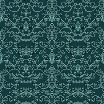 ダマスク織のビンテージシームレスパターン
