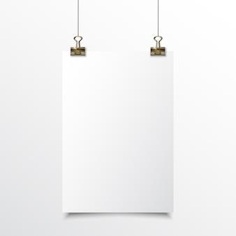 空白の紙のリアルモックアップ