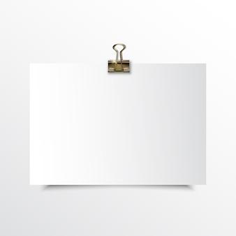 空白の水平紙リアルなモックアップ