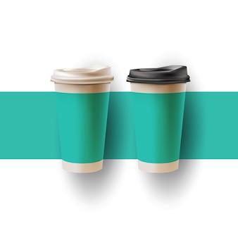 コーヒーカップのリアルモックアップ