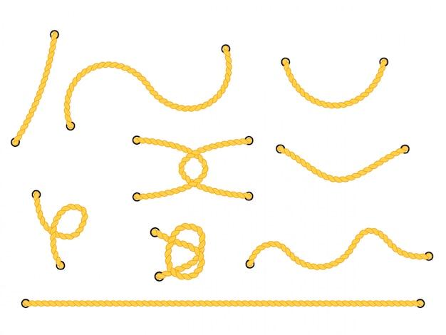 穴付きロープ