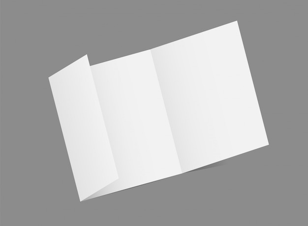 パンフレット空白の白いテンプレート