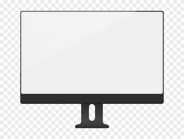 空白の白いコンピューター画面