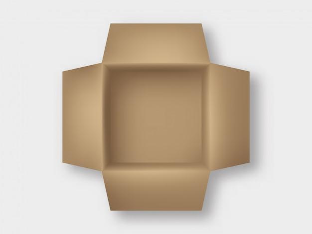 Картонная коробка сверху
