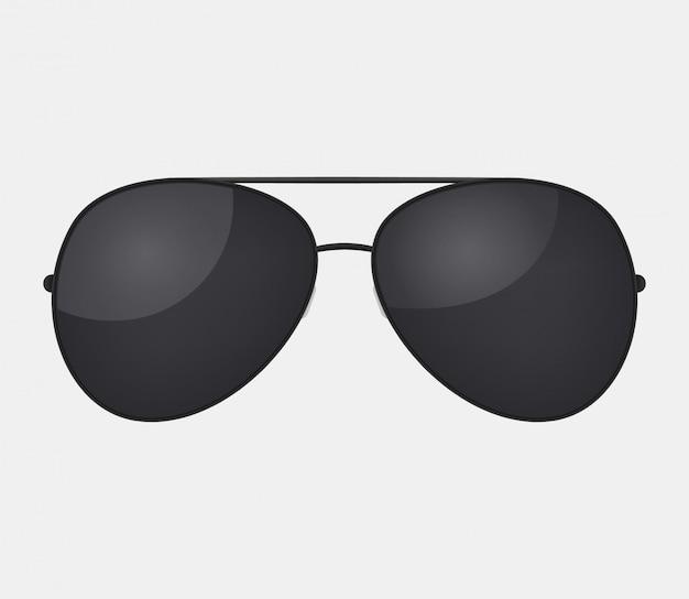 Авиатор полиции изолированные солнцезащитные очки.