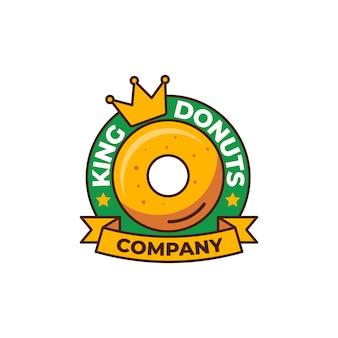 Шаблон логотипа пончиков
