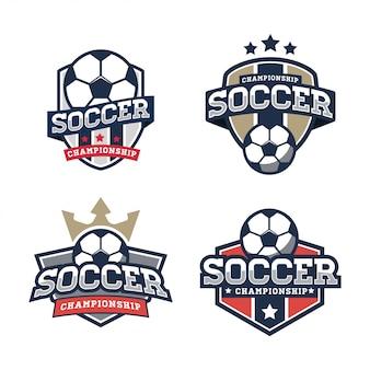 サッカーのロゴのテンプレート