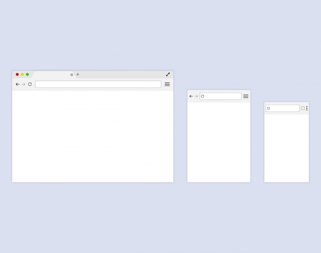Браузер или веб-браузер в плоском стиле
