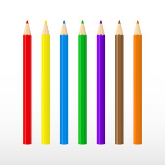マルチカラーの鉛筆のセット