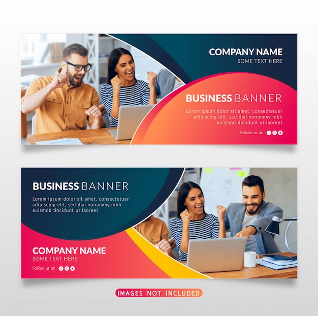 カラフルなビジネスバナー