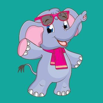 かわいい小さな象
