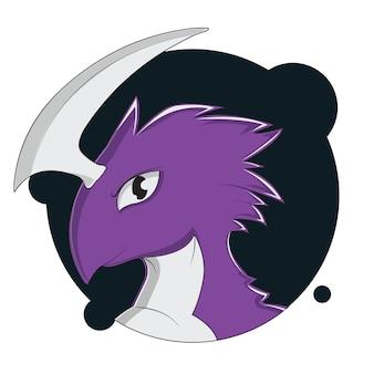 Аватар с большой головой дракона