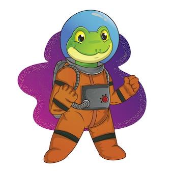 宇宙飛行士のカエル