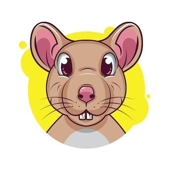 Милый мультфильм крыса