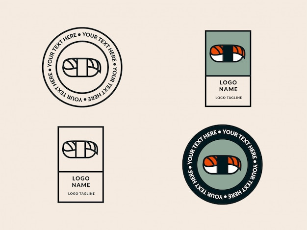 寿司ロゴのテンプレート