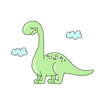 恐竜ディプロフォーカス、ベクトルイラスト