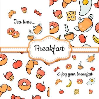 朝食用食品のセット