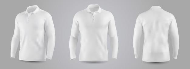 長袖モックアップ付きのメンズスウェットシャツ。