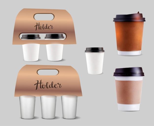 コーヒーカップホルダーセット。