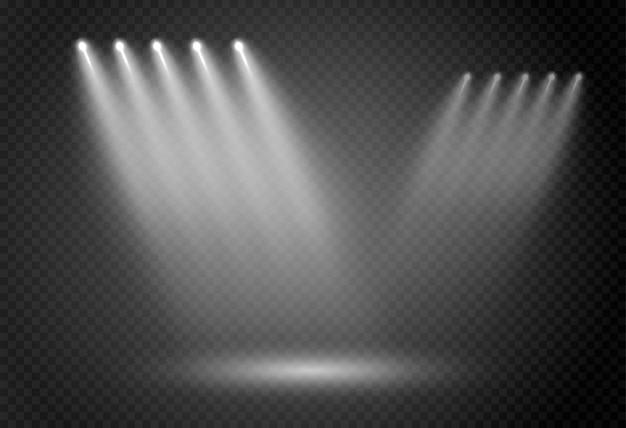 スポットライトの抽象的な白熱灯。