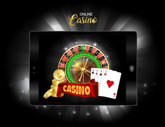 オンラインカジノデザインのバナーです。