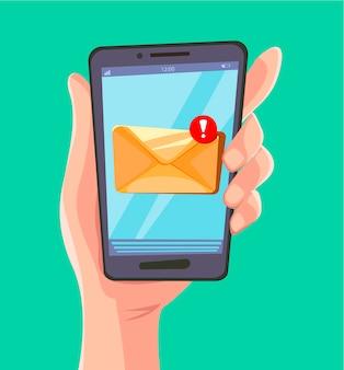 Концепция сообщения электронной почты.
