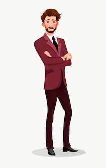 ビジネススーツを着た男。
