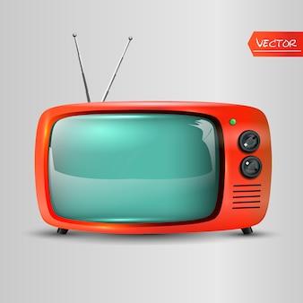 レトロなテレビのアイコン