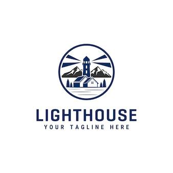 Шаблон дизайна логотипа маяк
