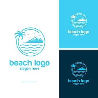 ビーチのロゴのベクトル