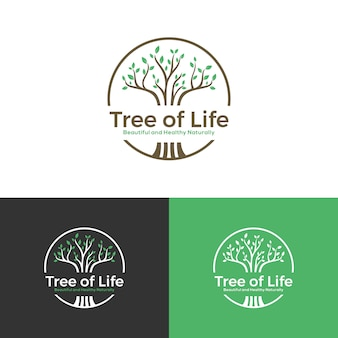 Дерево логотип красиво здоровый естественно