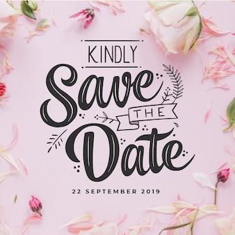 優雅な結婚式の招待状