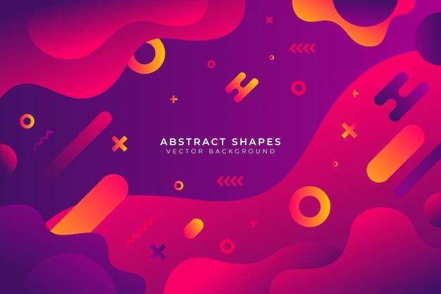 抽象的なグラデーション図形の背景