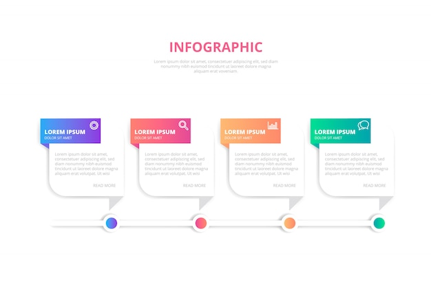 グラデーションインフォグラフィックバナーのテンプレート