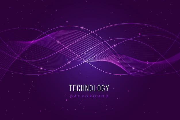 Фиолетовый фон технологии