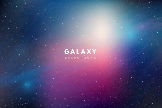 カラフルな銀河の背景