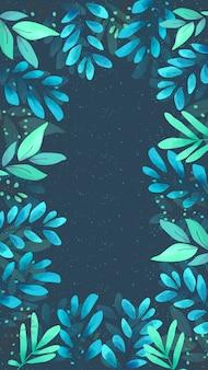 水彩花柄のモバイル画面の壁紙