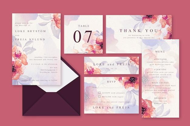 Розовая пудра пастельные свадебные канцтовары