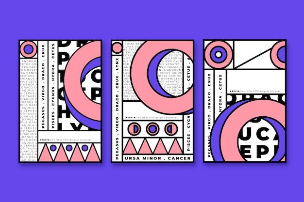 Геометрическая коллекция с черными штрихами