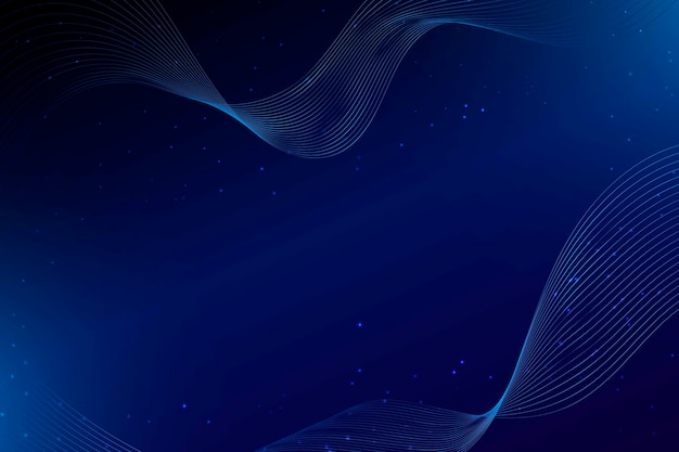 暗い青い波とドットの抽象的な背景