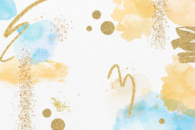 水彩と箔の抽象的な背景