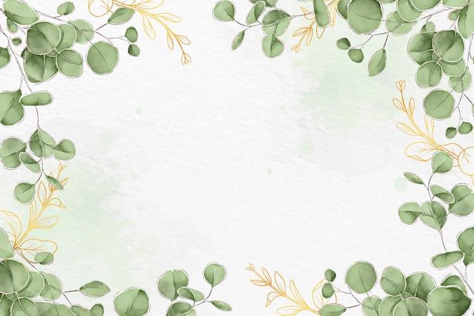 葉の背景デザイン