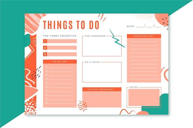 Сделать шаблон списка