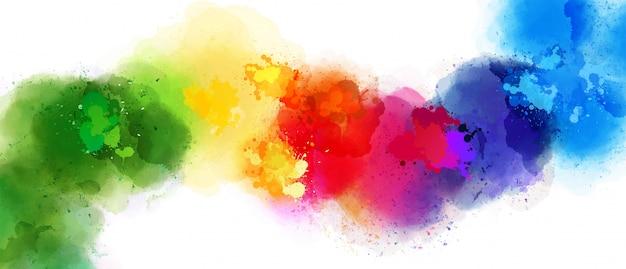 さまざまな色の美しいスプラッシュ