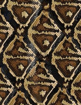 トレンディなスタイルの蛇皮パターン