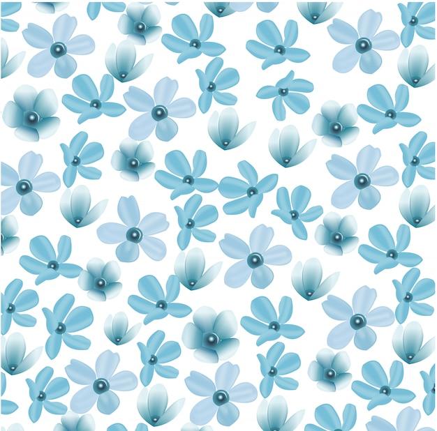 シンプルな花のパターン。ボタニカの背景。おしゃれな花柄